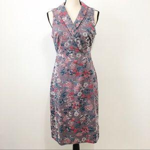 Anthropologie Maeve jacquard sleeveless dress